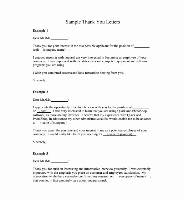 24 Sample Thank You Letters for Appreciation – Pdf Word
