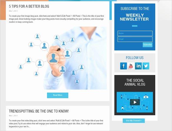 24 social Media Website themes & Templates