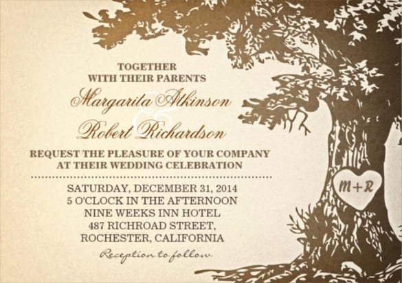 24 Vintage Wedding Invitation Templates Psd Ai