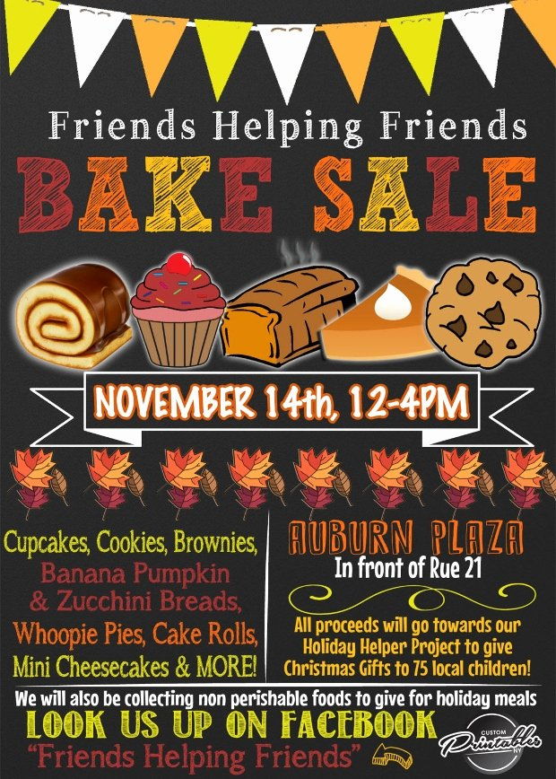 25 Bake Sale Flyer Templates Printable Psd Ai Vector