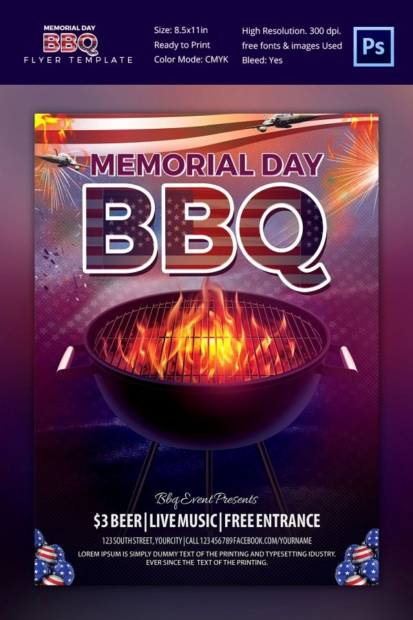 25 Bbq Flyer Template Free Word Pdf Psd Eps