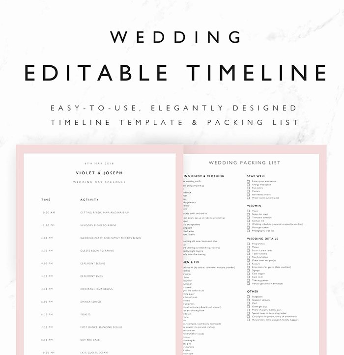 25 Beautiful Wedding Timeline Templates Mashtrelo