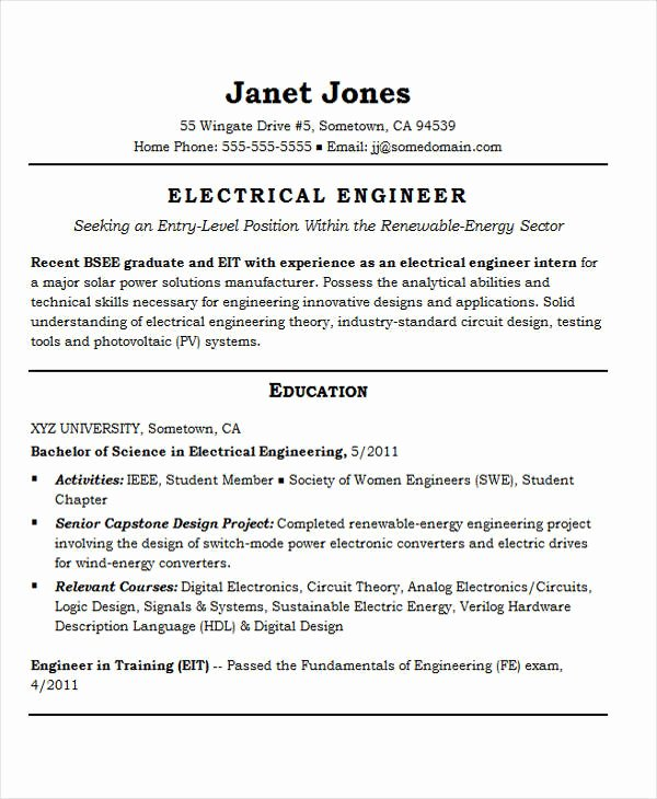 25 Best Engineering Resume Templates Pdf Doc