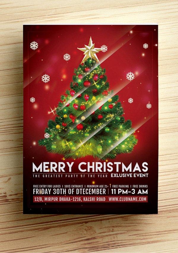 25 Best Free Christmas Flyer Templates Dzineflip