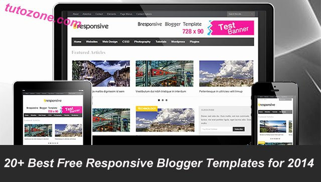 25 Best Free Responsive Blogger Templates for 2014