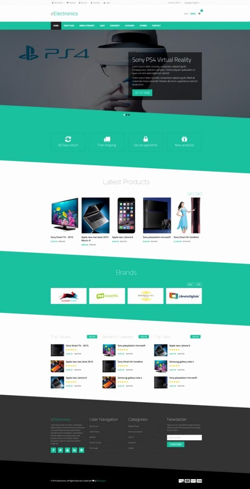25 Best HTML E Merce Website Templates Free Premium