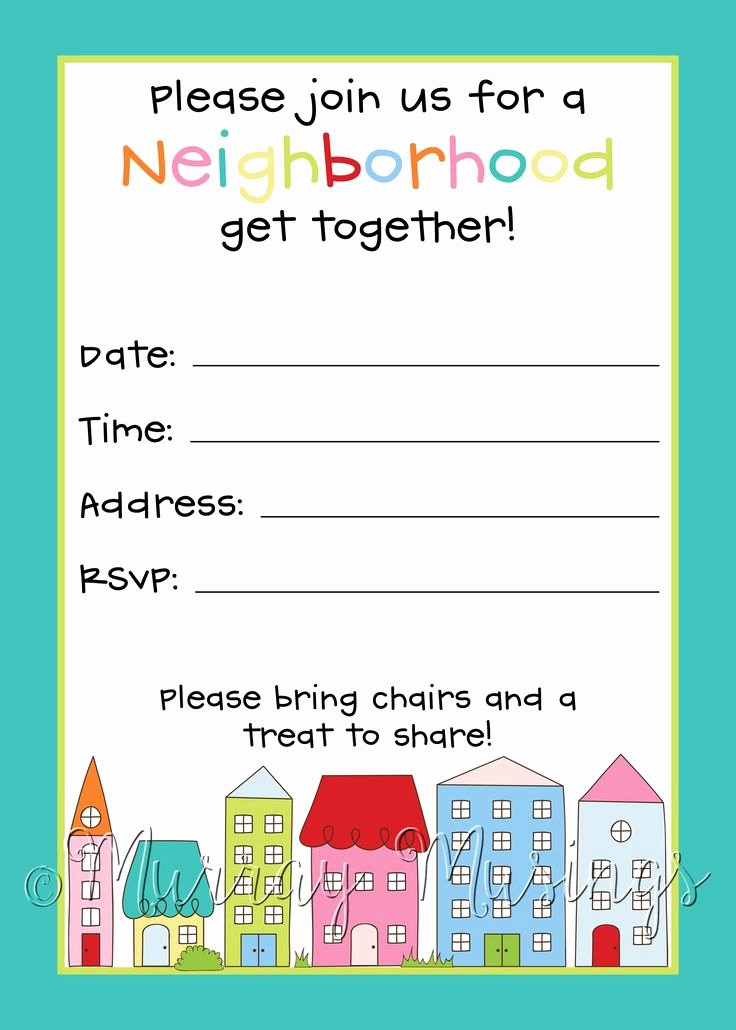 25 Best Ideas About Block Party Invites On Pinterest