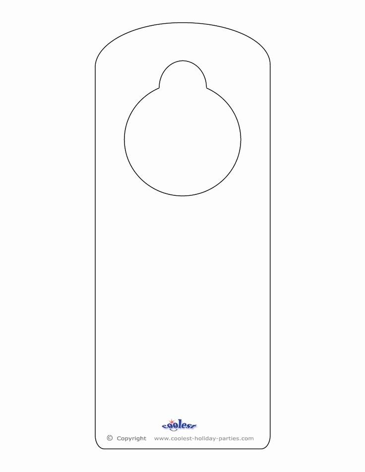 25 Best Ideas About Door Hanger Template On Pinterest