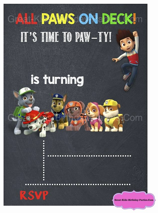 25 Best Ideas About Paw Patrol Invitations On Pinterest