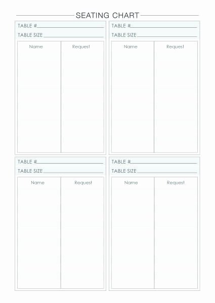 25 Best Ideas About Seating Chart Template On Pinterest