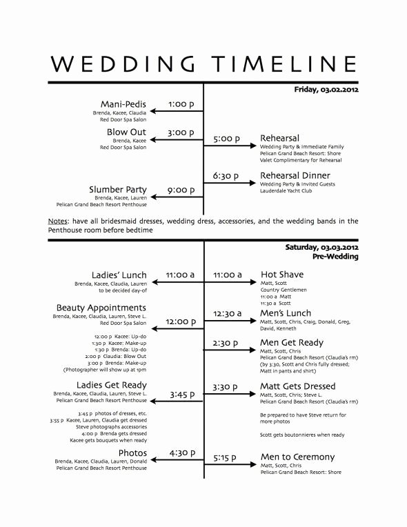 25 Best Ideas About Wedding Day Schedule On Pinterest