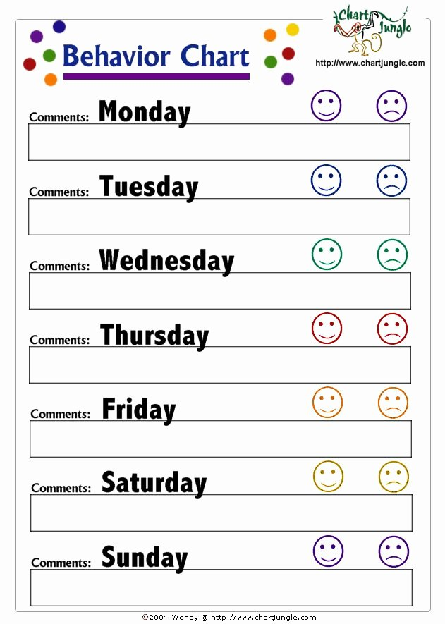 25 Best Ideas About Weekly Behavior Charts On Pinterest