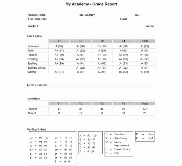 25 Best Images About Homeschool Grade Cards On Pinterest