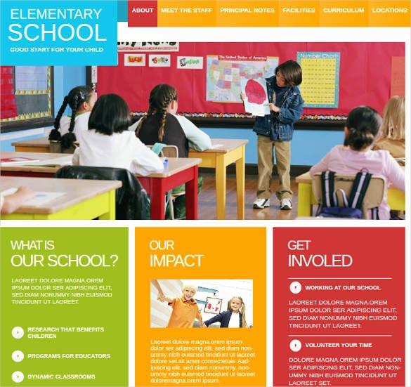 25 Best Premium School Website Templates