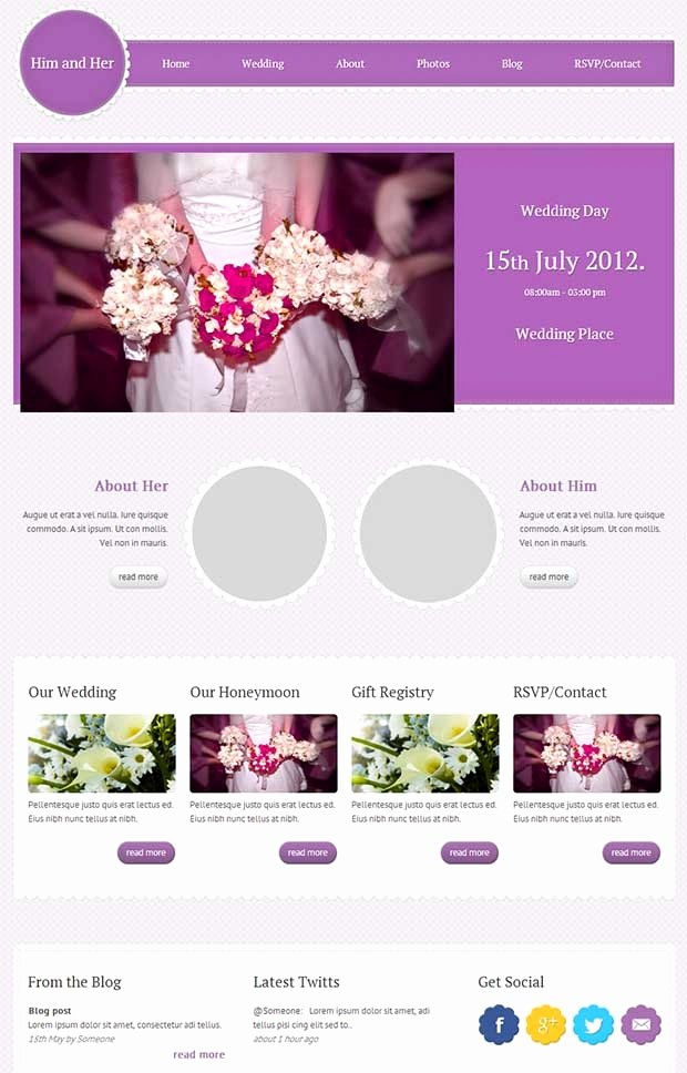 25 Best Premium Wedding Website Templates