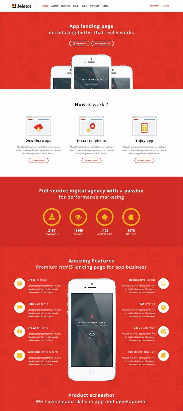 25 Best Responsive App Landing Page Templates Designmaz