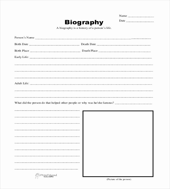 25 Biography Templates Doc Pdf Excel
