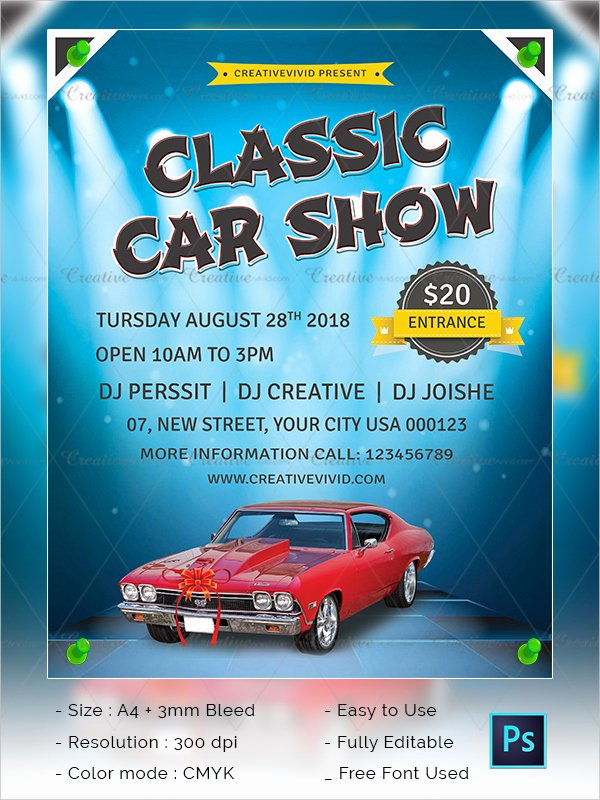 25 Car Show Flyer Templates Free & Premium Download