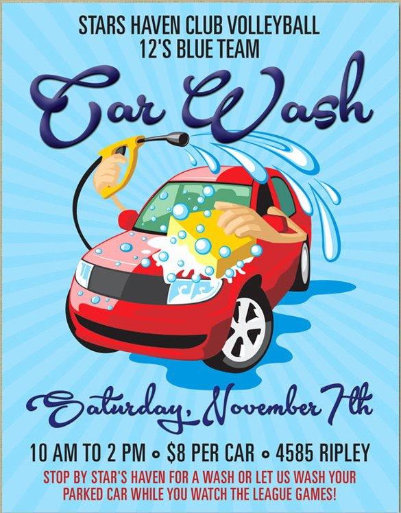 25 Car Wash Flyers