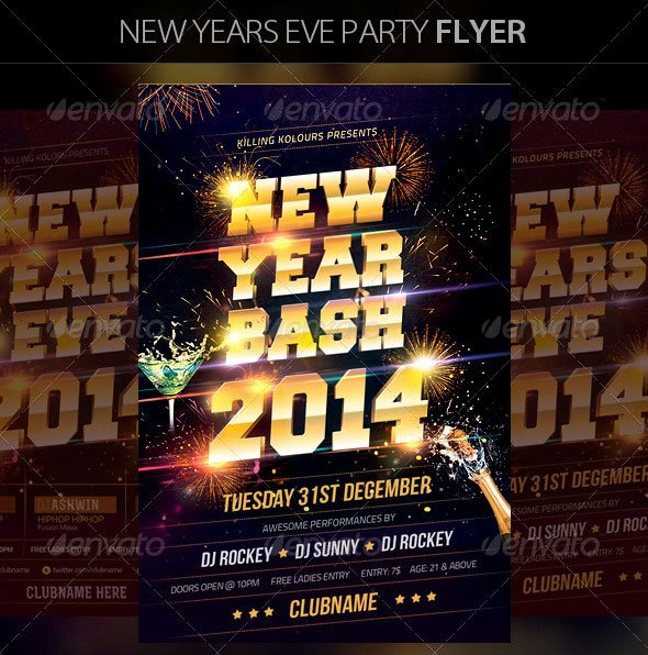 25 Christmas & New Year Party Psd Flyer Templates