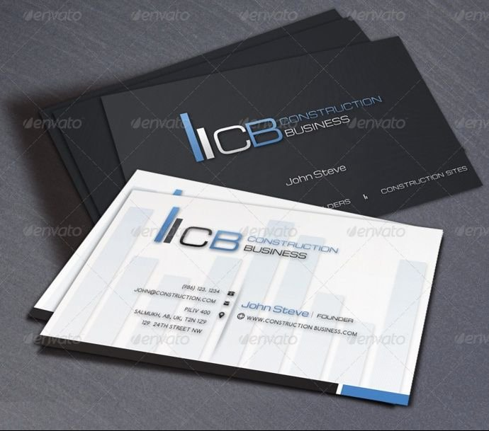 25 Construction Business Card Template Psd and Indesign