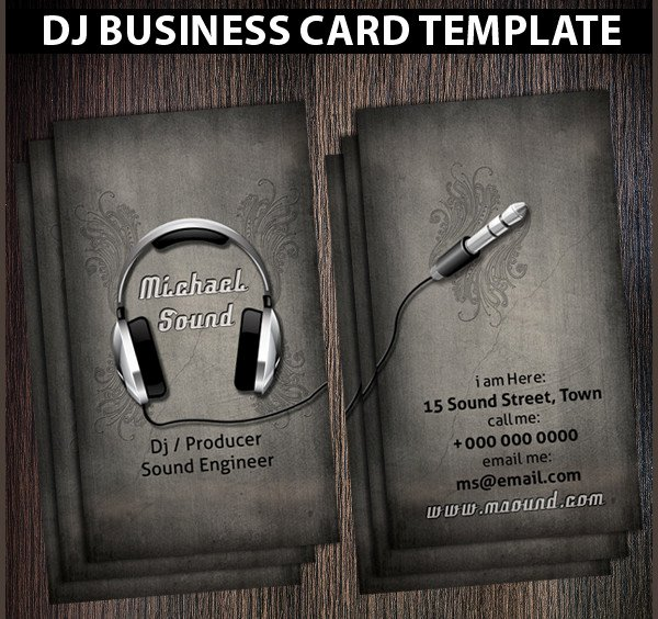 25 Dj Business Card Templates Free Psd Ai Eps format