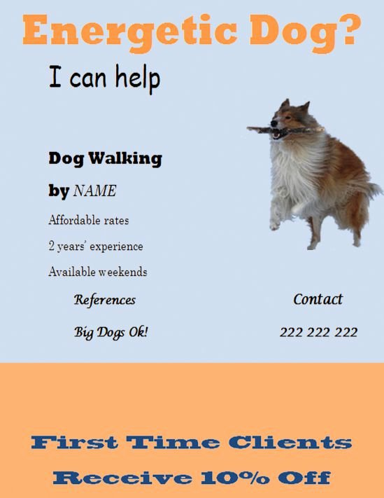 25 Dog Walking Flyers for Small Dog Sitting Businesses
