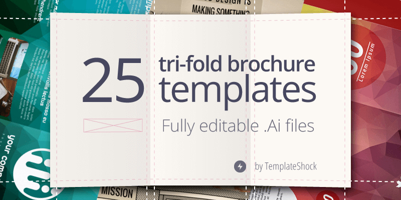 25 Editable Illustrator Tri Fold Brochure Templates bypeople