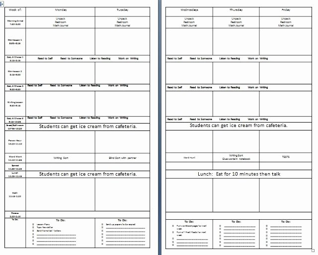25 Editable Weekly Lesson Plan Template Weekly Editable