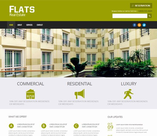 25 Free & Premium Real Estate HTML Website Templates