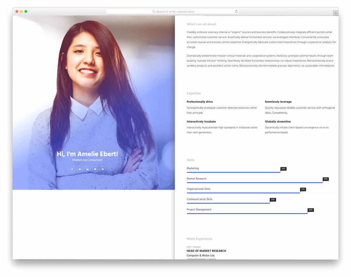 25 Free Bootstrap Personal Website Templates to Improve