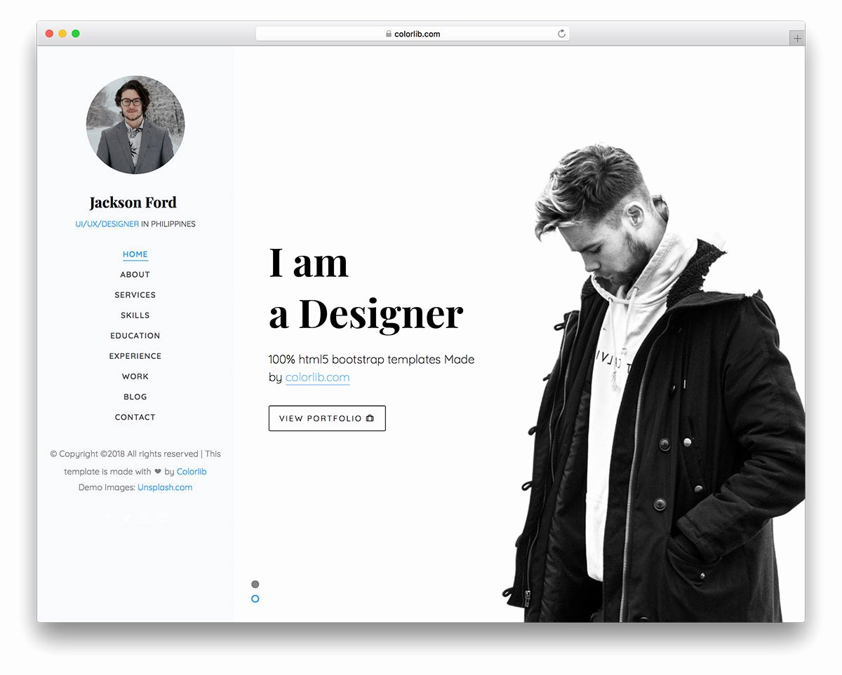 25 Free Freelancer Website Templates to Make Profitable