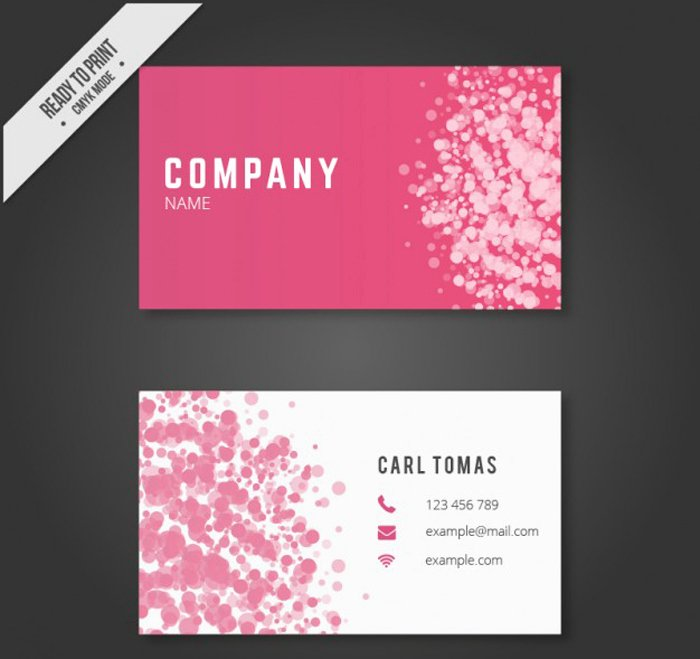 25 Free Pink Business Card Templates for Download Designyep