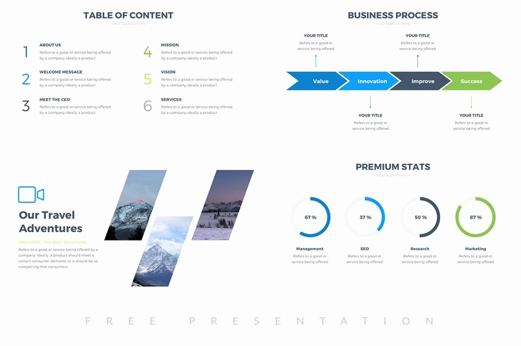 25 Free Professional Ppt Templates for Project Presentations