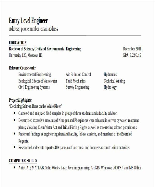 25 Generic Engineering Resume Templates