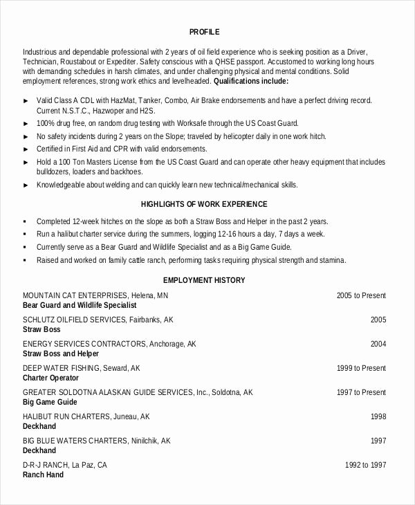 25 Generic Work Resume Pdf Doc