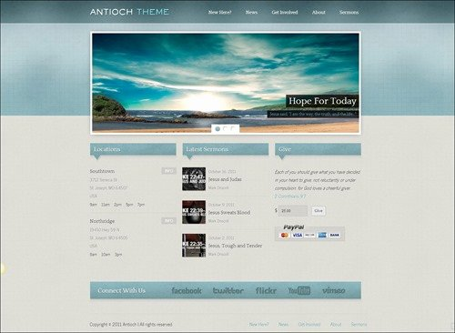 25 Inspiring Church Website Templates