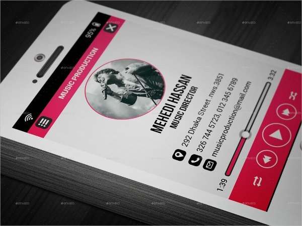 25 Music Business Card Templates Psd Ai Word