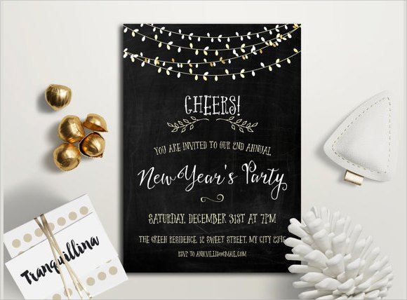 25 New Year Invitation Templates to Download