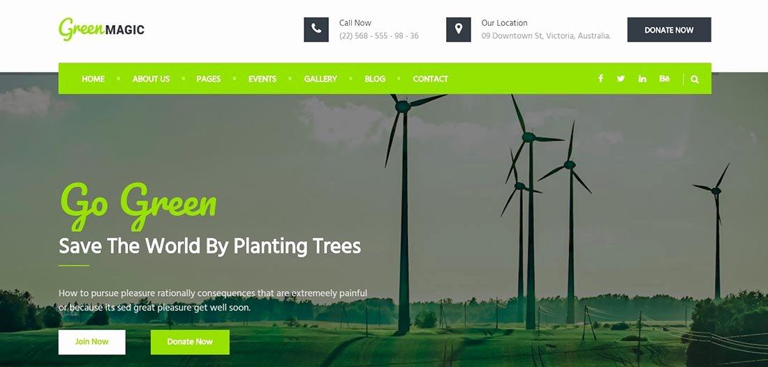 25 Non Profit Website Templates for Not for Profit