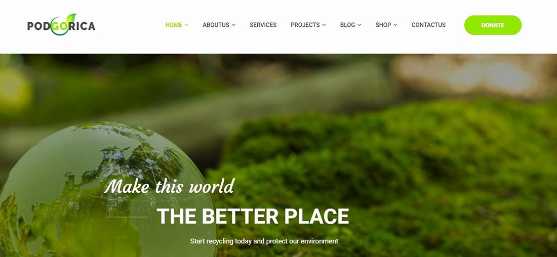 25 Non Profit Website Templates for Not for Profit Entities