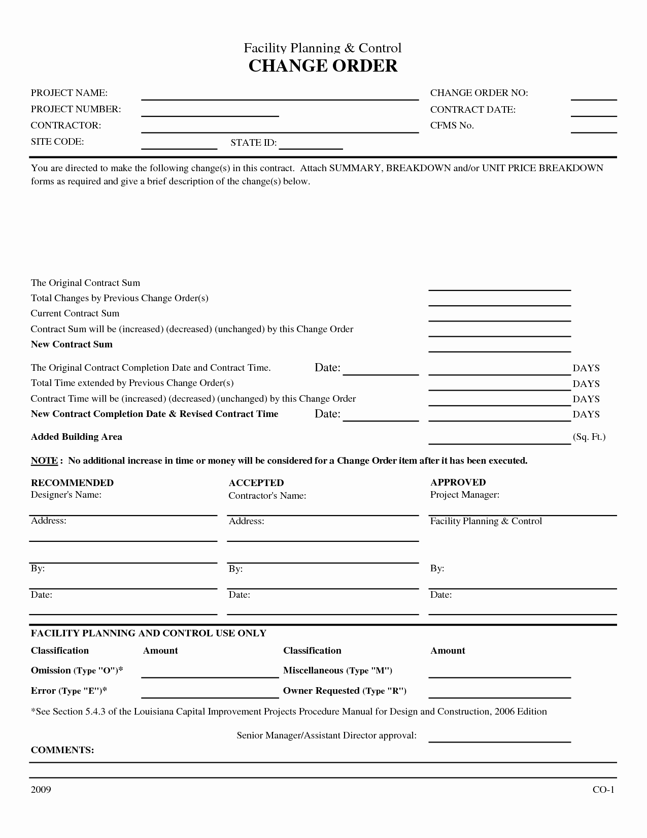 25 Of Aia Change order Template