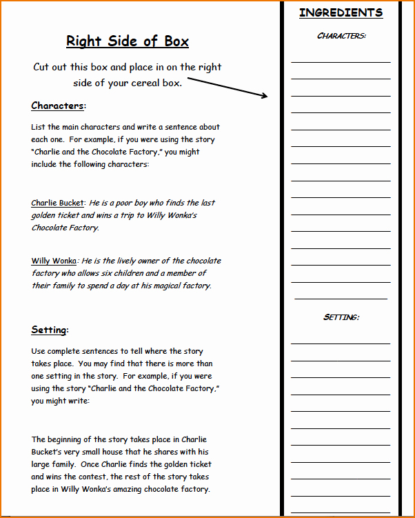 25 Of Template for Cereal Box Nutritional