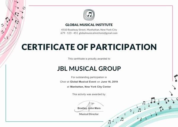25 Participation Certificate Templates Pdf Doc Psd F