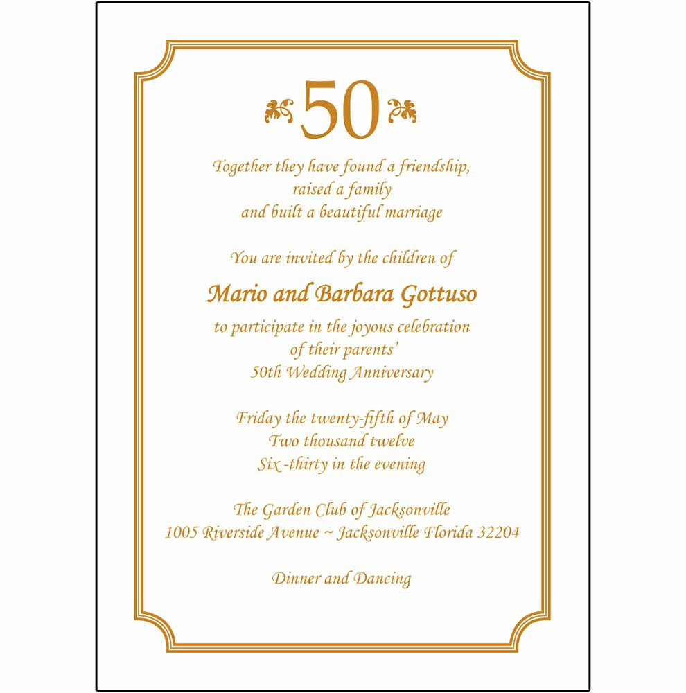 25 Personalized 50th Wedding Anniversary Party Invitations