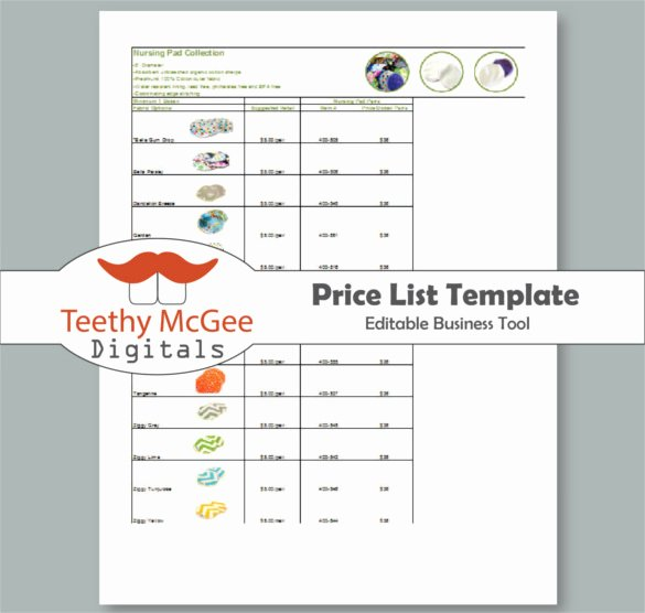 25 Price List Templates Doc Pdf Excel Psd
