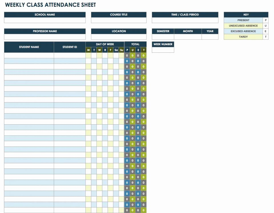 25 Printable attendance Sheet Templates [excel Word