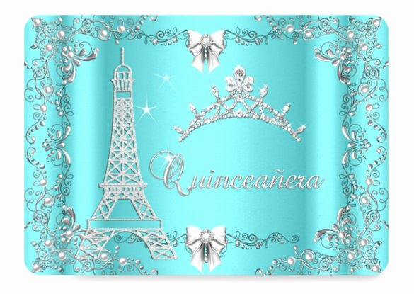 25 Quinceanera Invitations Template Free Psd Vector