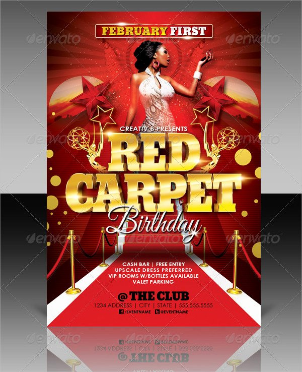 25 Red Carpet Party Flyer Templates Free & Premium Download