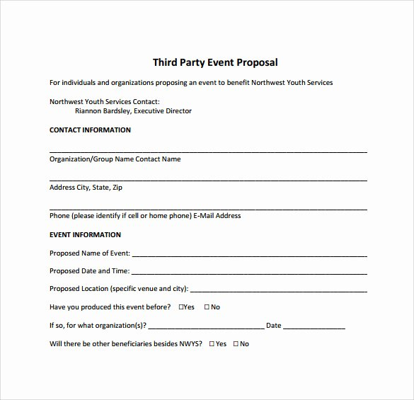 25 Sample event Proposal Templates – Psd Pdf Word
